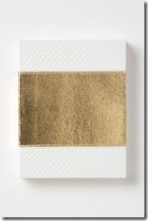 anthropologie Leather White Gold Viper Journal