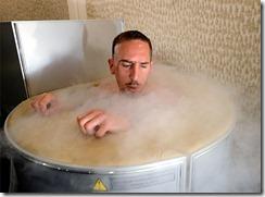 Ribery en la sauna