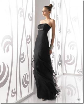 diseñador rosa clara vestido de novia en negro 2011 precios baratos