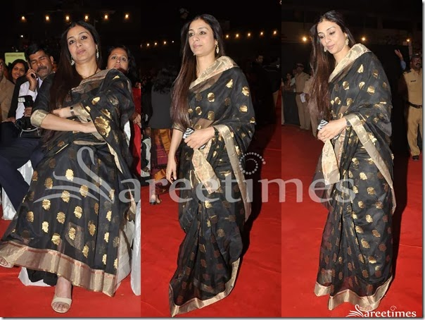 Tabu_Black_Raw_Silk_Saree