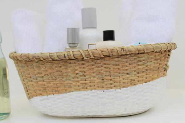 Painted Basket {faux dip dye} via homework (1)