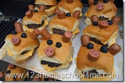 Farm Party Food Pig Hamburgers