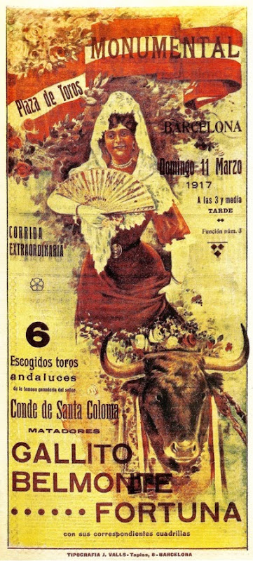 1917-03-11 Barcelona Joselito Belmonte Fortuna(Cartel-Sonseca) 001