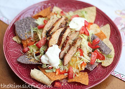 Pollo asada nachos