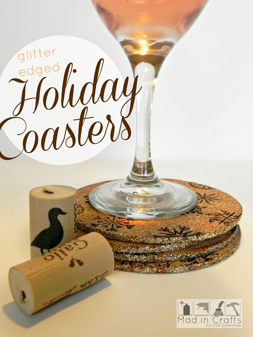 glitter edged coasters for psa graphic