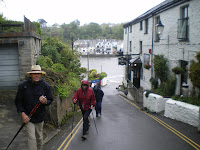 Walking past The Old Ferry Inn - Fowey