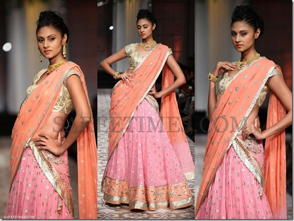 Azva_Orange_Pink_Saree