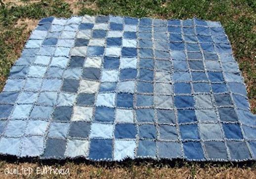 53 blue jean quilt