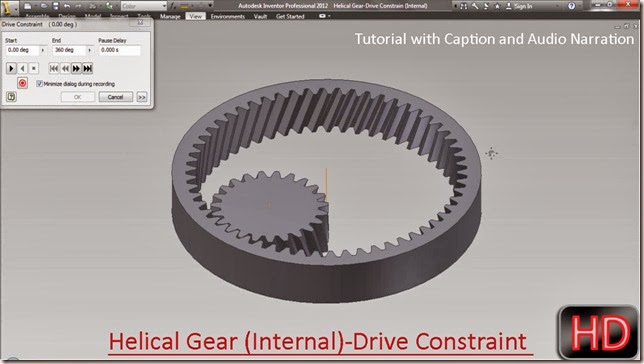Helical Gear (Internal)-Drive Constraint