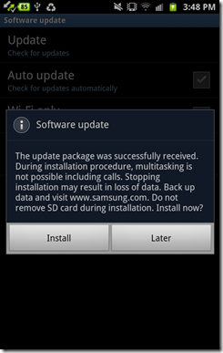 Update Android 4.0 9