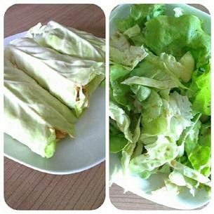 6 Reste-Wraps und Salat