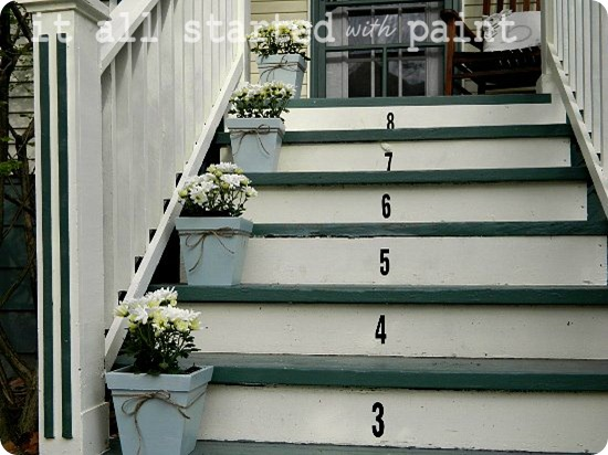 Spring front porch numbers