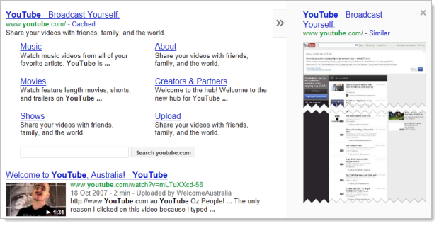 Google preview YouTube working corectly