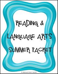 language arts summber packet from ashley