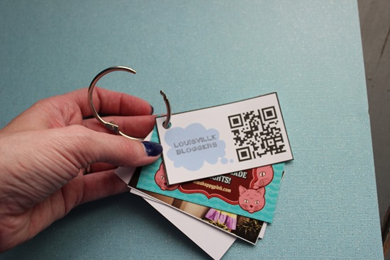 DIY Business Card Organizer
