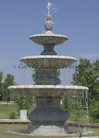 Playa Vista 3-Tier Fountain, D84 Bianco Catalina Granite