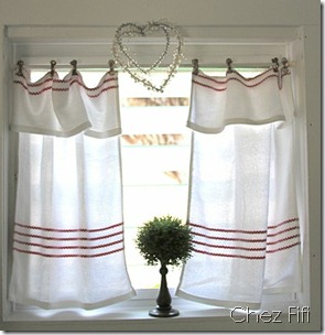 tea towel cafe curtains