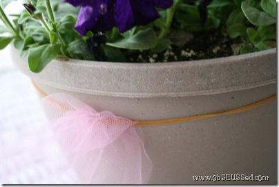 Tulle Flower Basket
