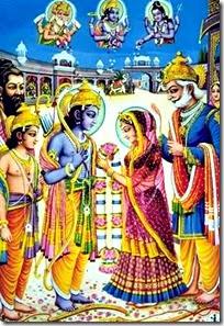 [Sita and Rama's marriage]