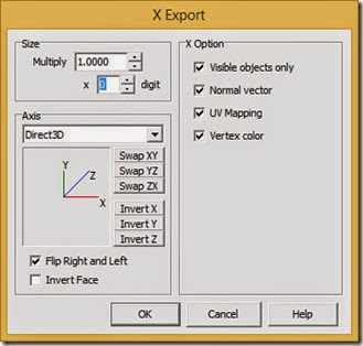 Use these X Export settings