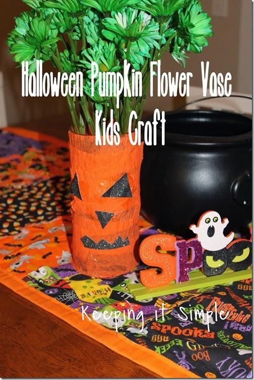 Halloween pumpkin flower vase #kidscraft