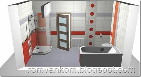 ремонт ванной комнаты и туалета 5