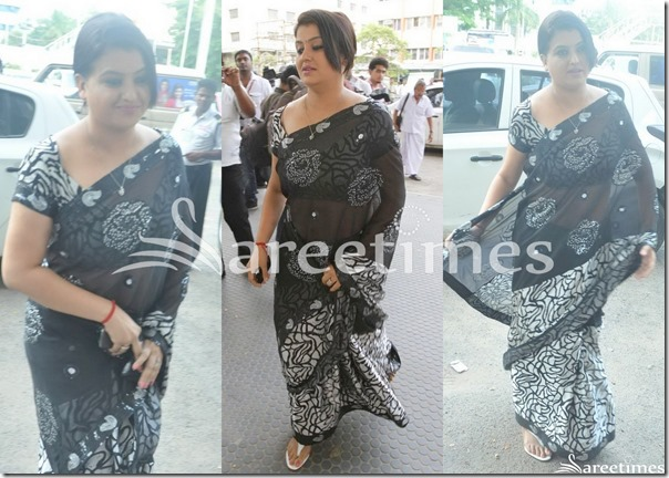 Sona_Black_Printed_Saree