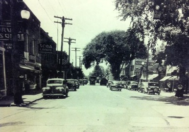 Sayville Main Street 1940-Sheva Apelbaum