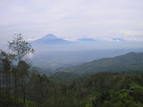 Sumbing and Sindoro in the distance, from Telomoyo (Daniel Quinn, October 2010)