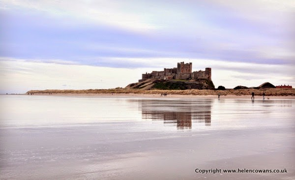 Bamburgh still beach