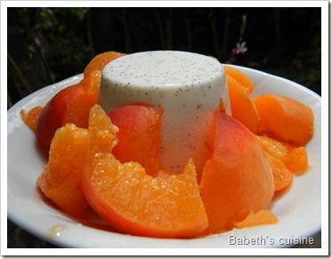 panacotta vanille abricots
