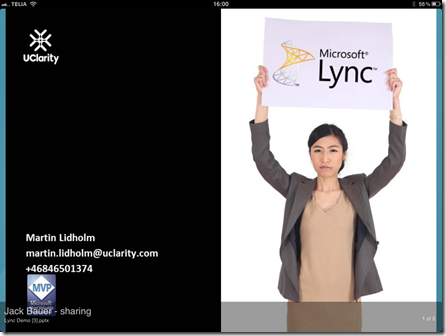 Lync ipad 1