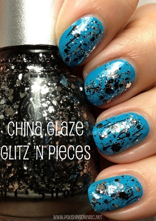 China Glaze Glitz 'n Pieces (over Sunday Funday)