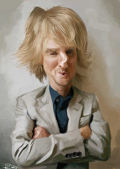 owen wilson caricature