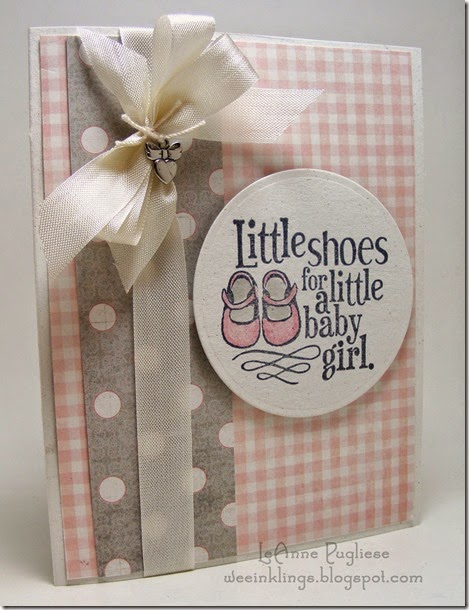 LeAnne Pugliese WeeInklings Baby Shoes Card