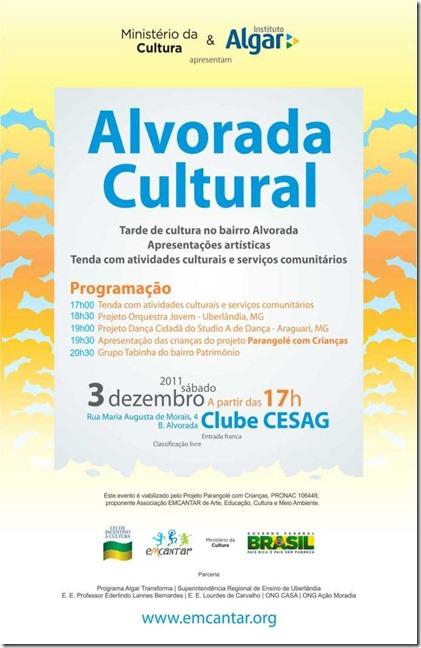 Convite Alvorada Cultural