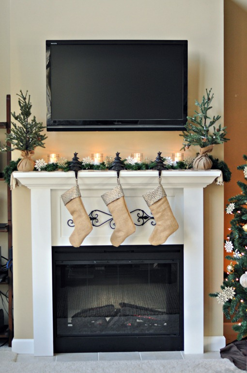 Decor and the Dog Holiday Mantel 2012
