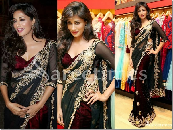Chitrangada_Singh_Black_Saree