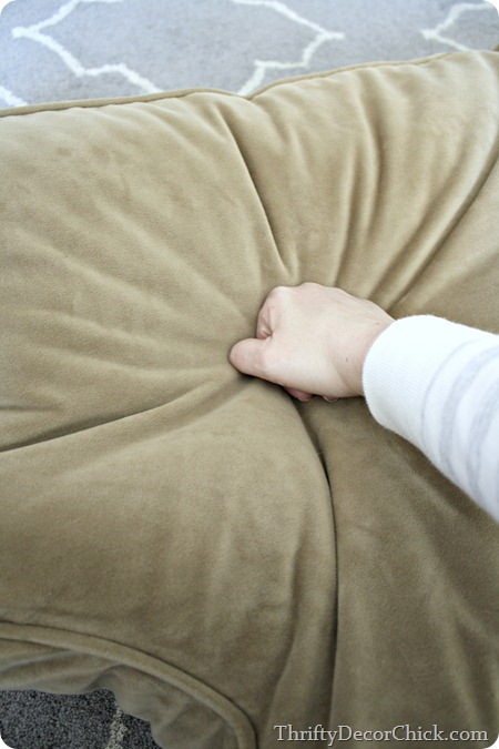 fluffing up couch cushions