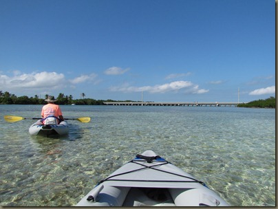 kayaking from bridge at sunshine key