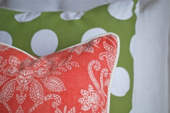 polka dot painted pillows