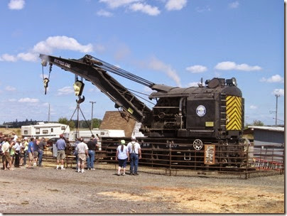 IMG_8052 1927 Bucyrus-Erie 160-Ton Steam Railway Derrick Crane SPMW #7020 at Antique Powerland in Brooks, Oregon on August 4, 2007