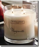 White Company Pomegrate Scented Candle