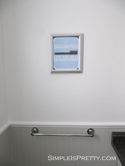 Upstair Bathroom printable