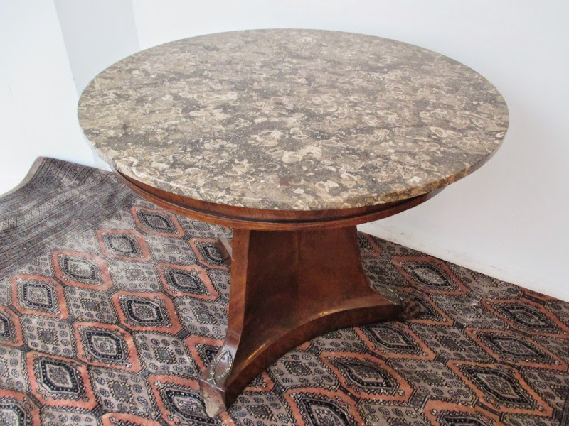 Marble Top Claw Foot Table