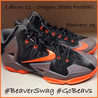 nike lebron 11 pe oregon beavers 1 01 Oregon State Beavers Receive Nike LeBron 11 PEs For Hawaii Bowl