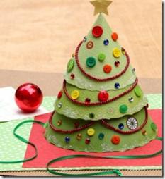 Hacer sombrero de cartulina con forma de rbol de navidad - Como hacer un arbol de papel grande ...