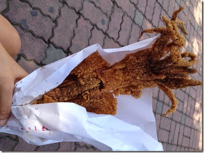 gigantic deep-fried squid