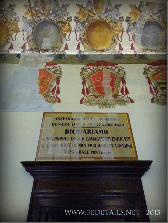 Dentro al Castello Estense, La sala degli Stemmi, Foto3, Ferrara, EmiliaRomagna,Italia - Inside the Estense Castle, The Hall Coat of Arms, Photo3, Ferrara, EmiliaRomagna, Italy - Property and Copyrights of FEdetails.net