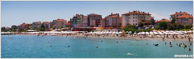 Городские пляжи. Поморие. Болгария. www.timeteka.ru